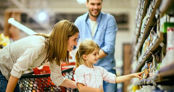 Come fare la spesa con i bambini