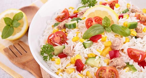 Insalata di riso per bambini