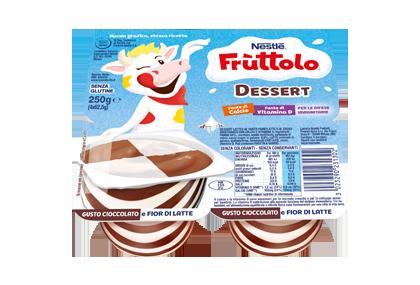 Frùttolo Dessert cioccolato e nocciola 4x62,5