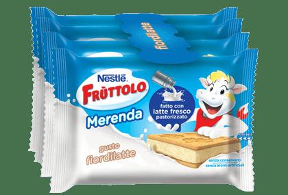Frùttolo Merenda con latte fresco e fiordilatte
