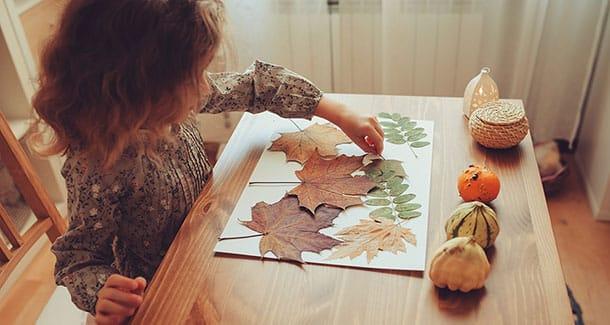 Lavori creativi con le foglie da fare con i bambini