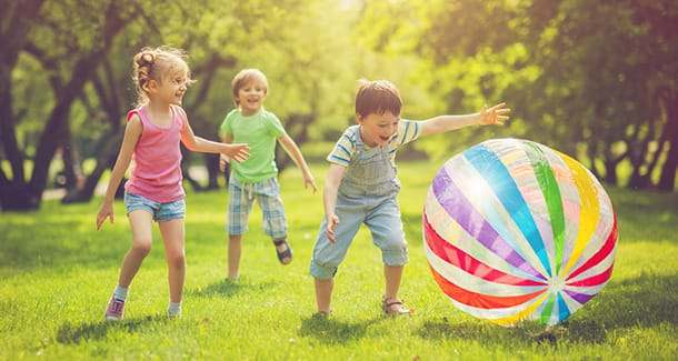 I migliori giochi con la palla per i bambini