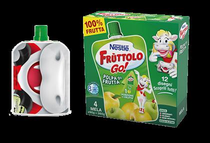 Frùttolo GO! Polpa di frutta Mela 4x90g