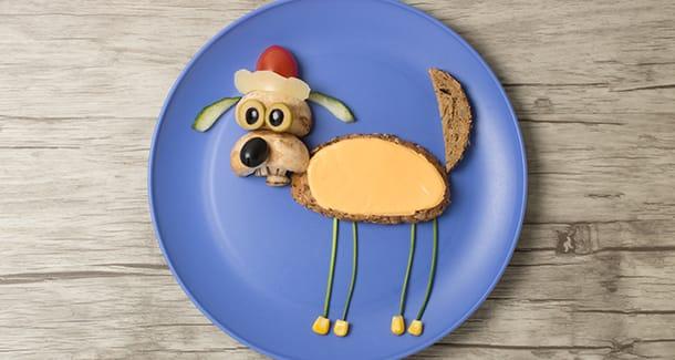 Food art: piatti divertenti per bambini
