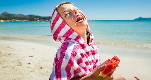 Lo spuntino in spiaggia adatto ai bambini