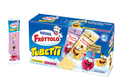 Frùttolo Tubetti Banana Lampone 6x60g